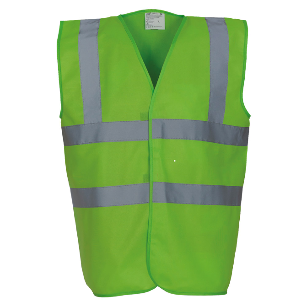 High Visibility Lime Green Safety Vests