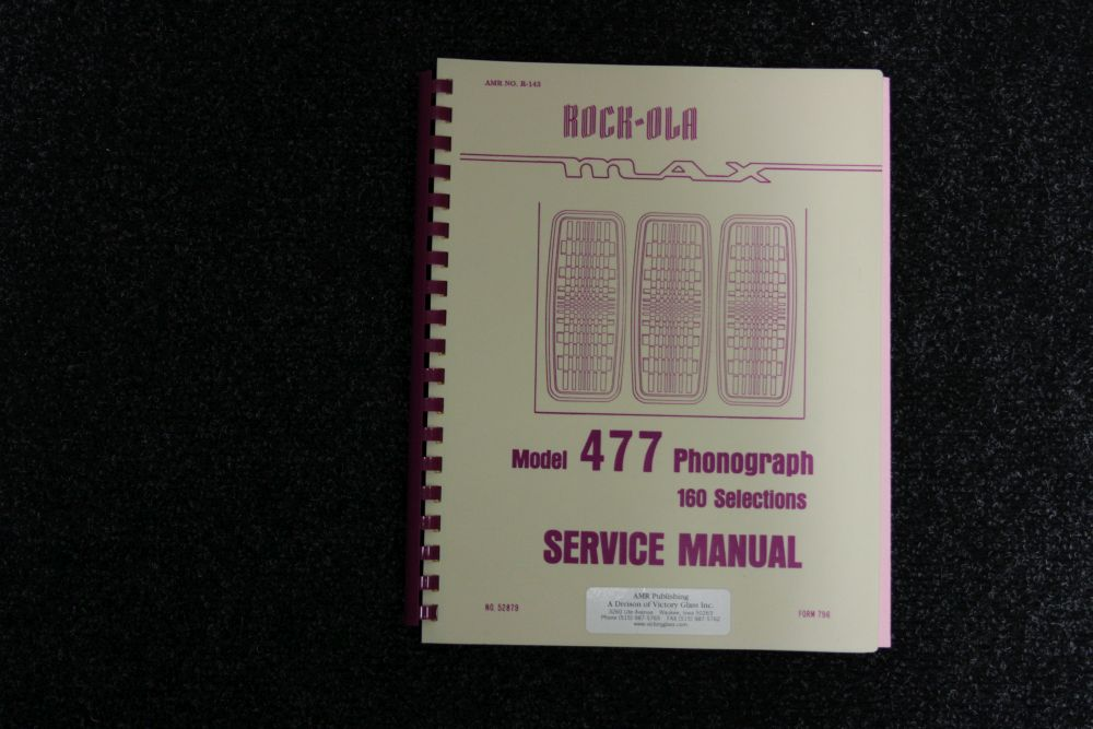 Rock-Ola Service Manual - Model 477