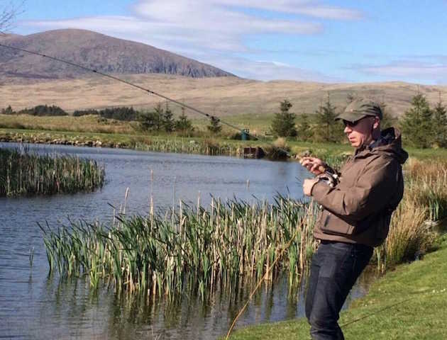 Glenquicken Troutmasters Fishery lochans are well stocked with rainbow and brown trout