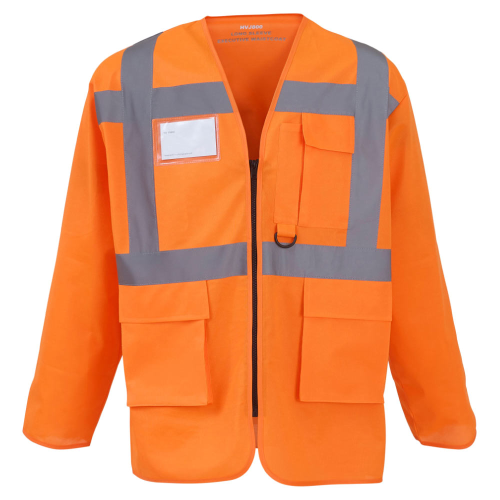 Executive Long Sleeve Waistcoat Orange