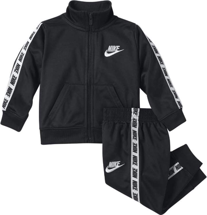 Nike Polyester Suit Set Black-White