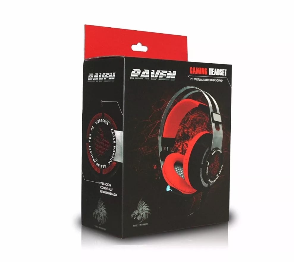 Diadema Gamer Eagle Warrior Raven 7.1