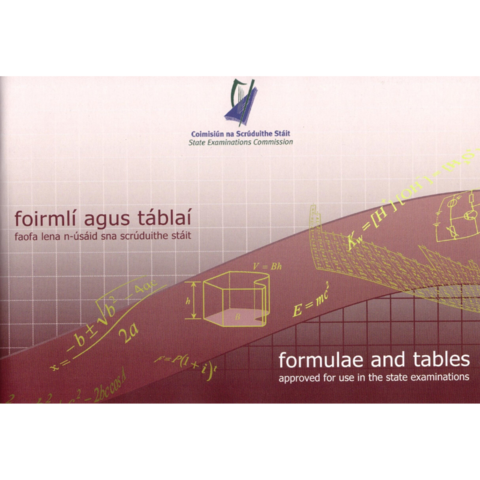 MATHS Formulae and Tables Book (Log Book)