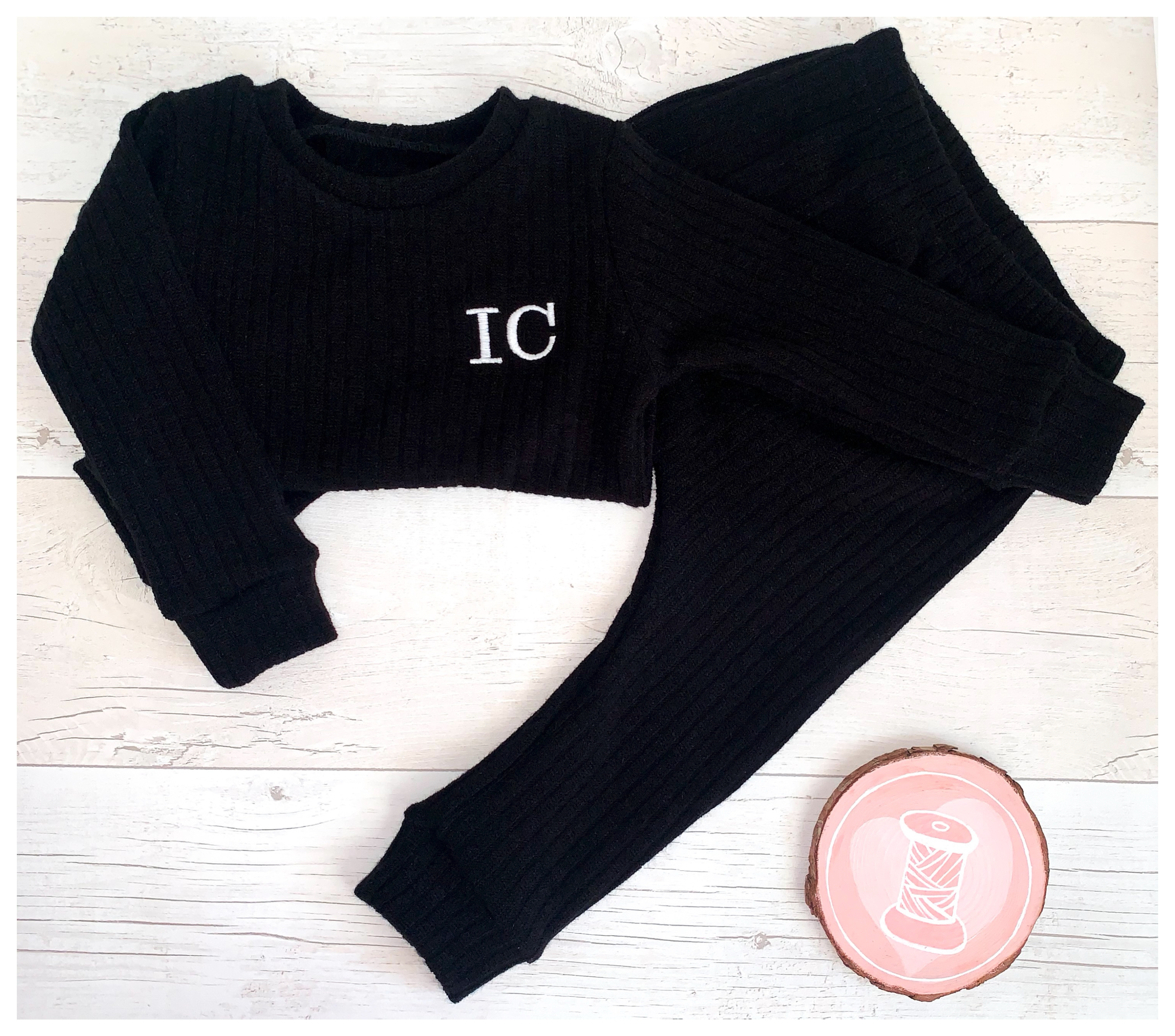 Black Chunky Knit Set