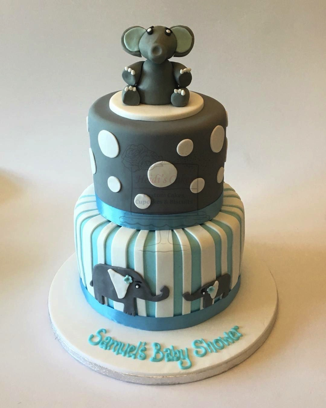 Elephant Blue/Grey 2 Tier