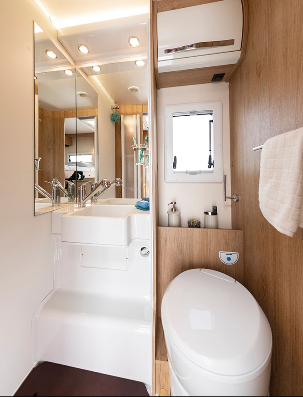 Image of toilet and shower area