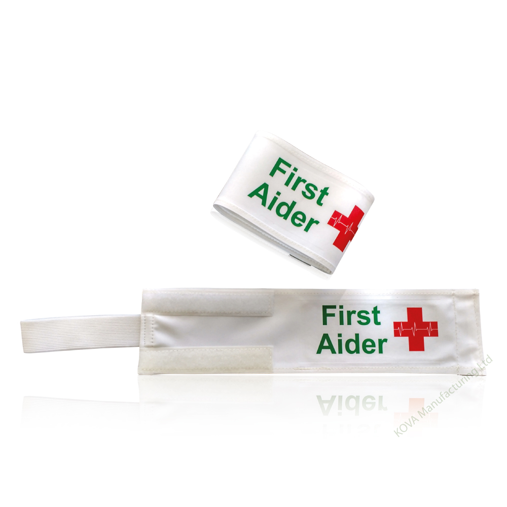 First Aider Armband Green/Red Print