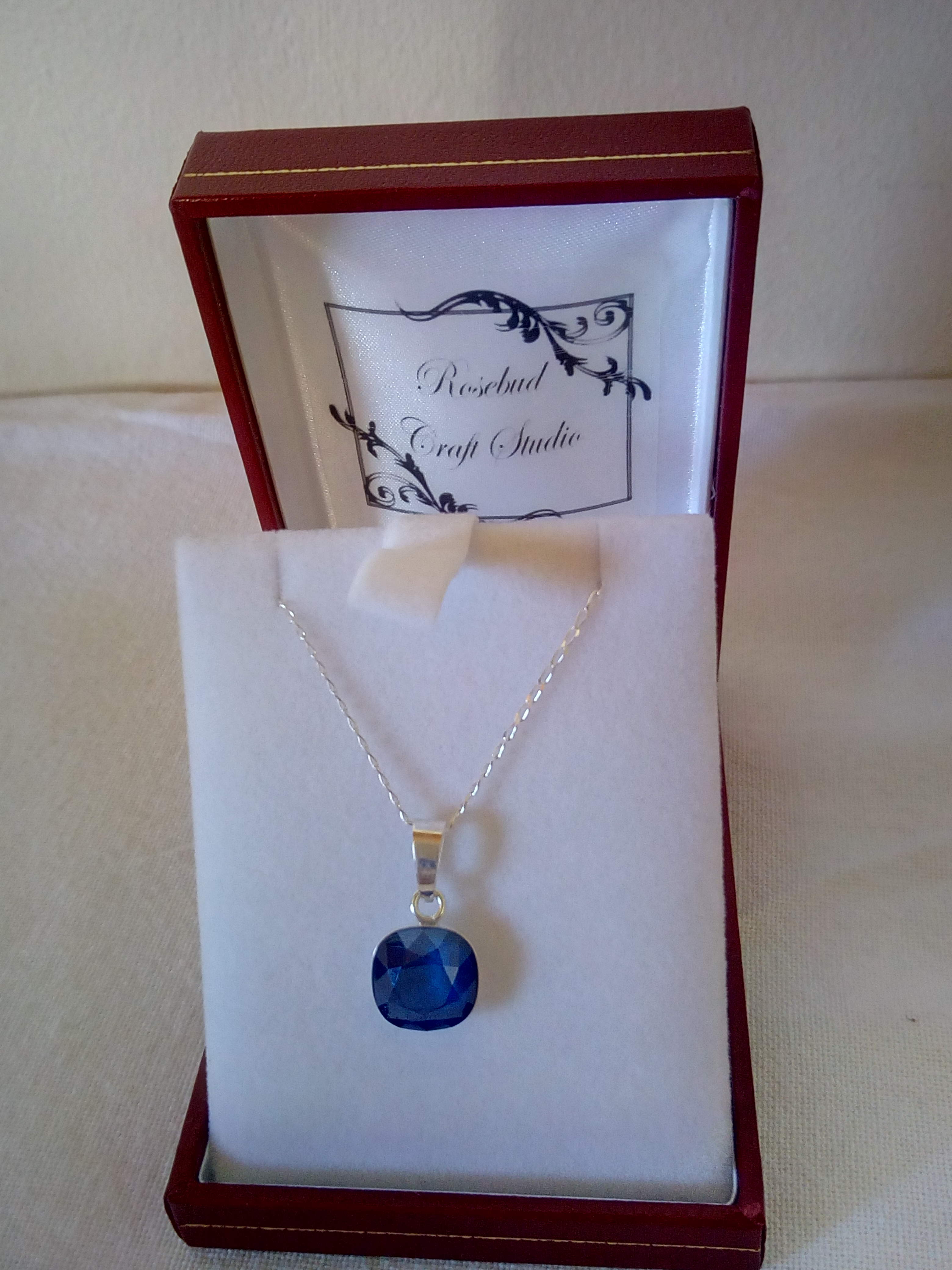 Crystal Royal Blue Swarovski Pendant