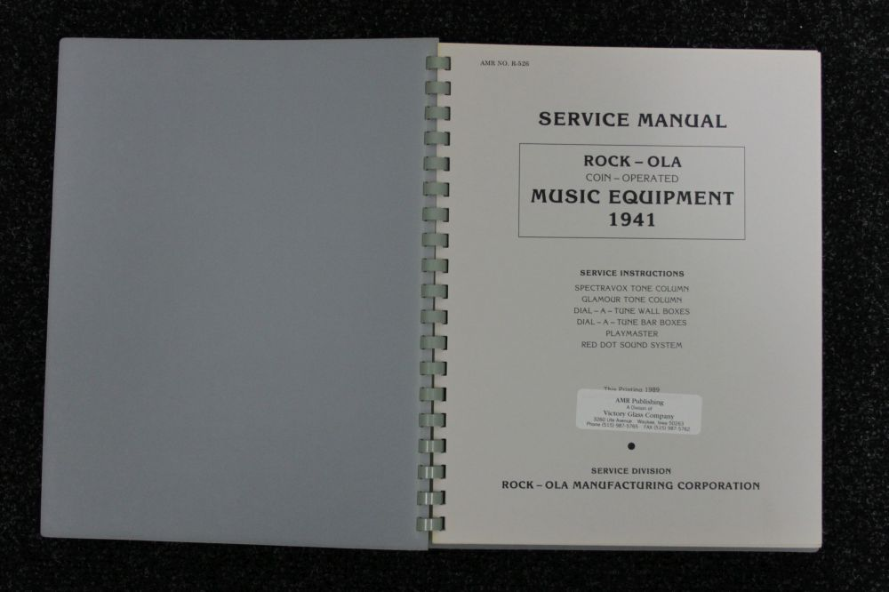 Rock-ola - Service Manual - Model 1941