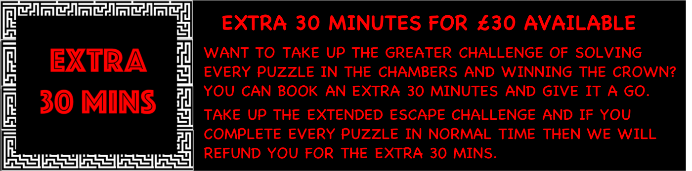 Extra 30 minutes special offer at Escape from the Room