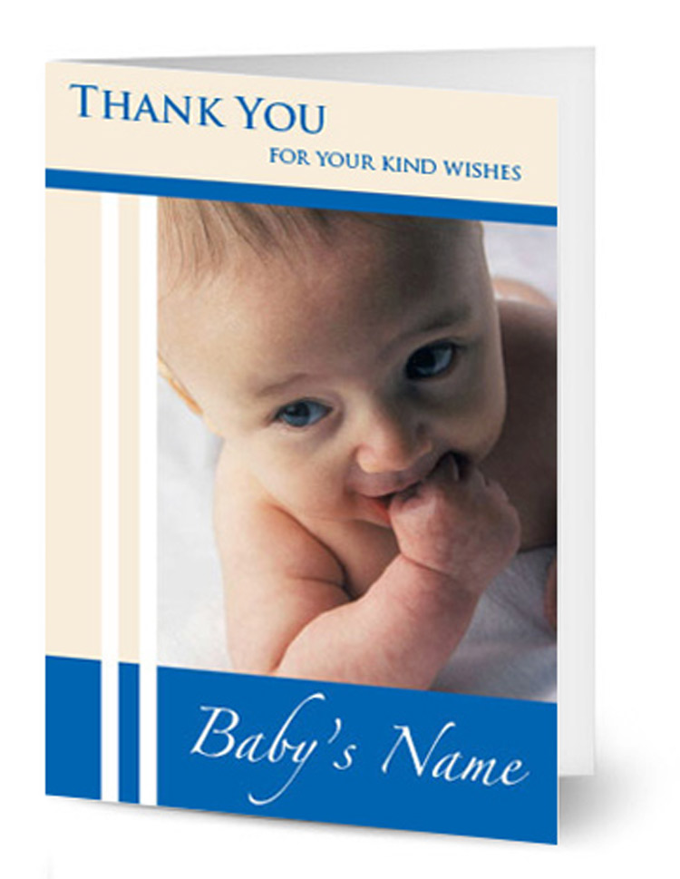 Portrait Baby Photo thank you Card