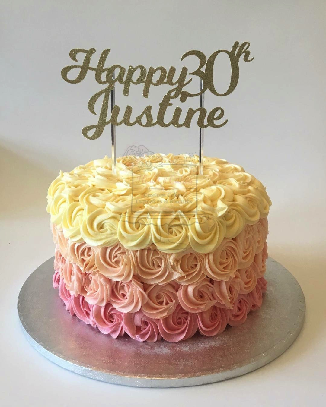 Pink Ombre Piped Buttercream