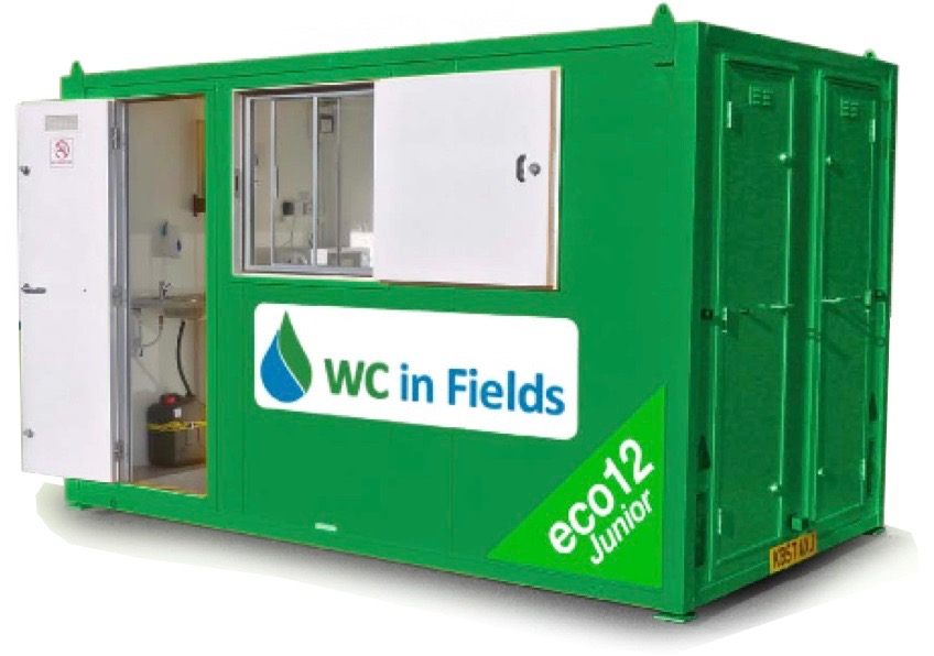 Welfare Unit Hire Dumfries and Galloway by WC In  Fields of Tongland, Kirkcudbright