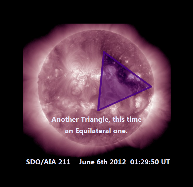 An Equilateral Triangle upon the Sun_June 6th Venus Transit
