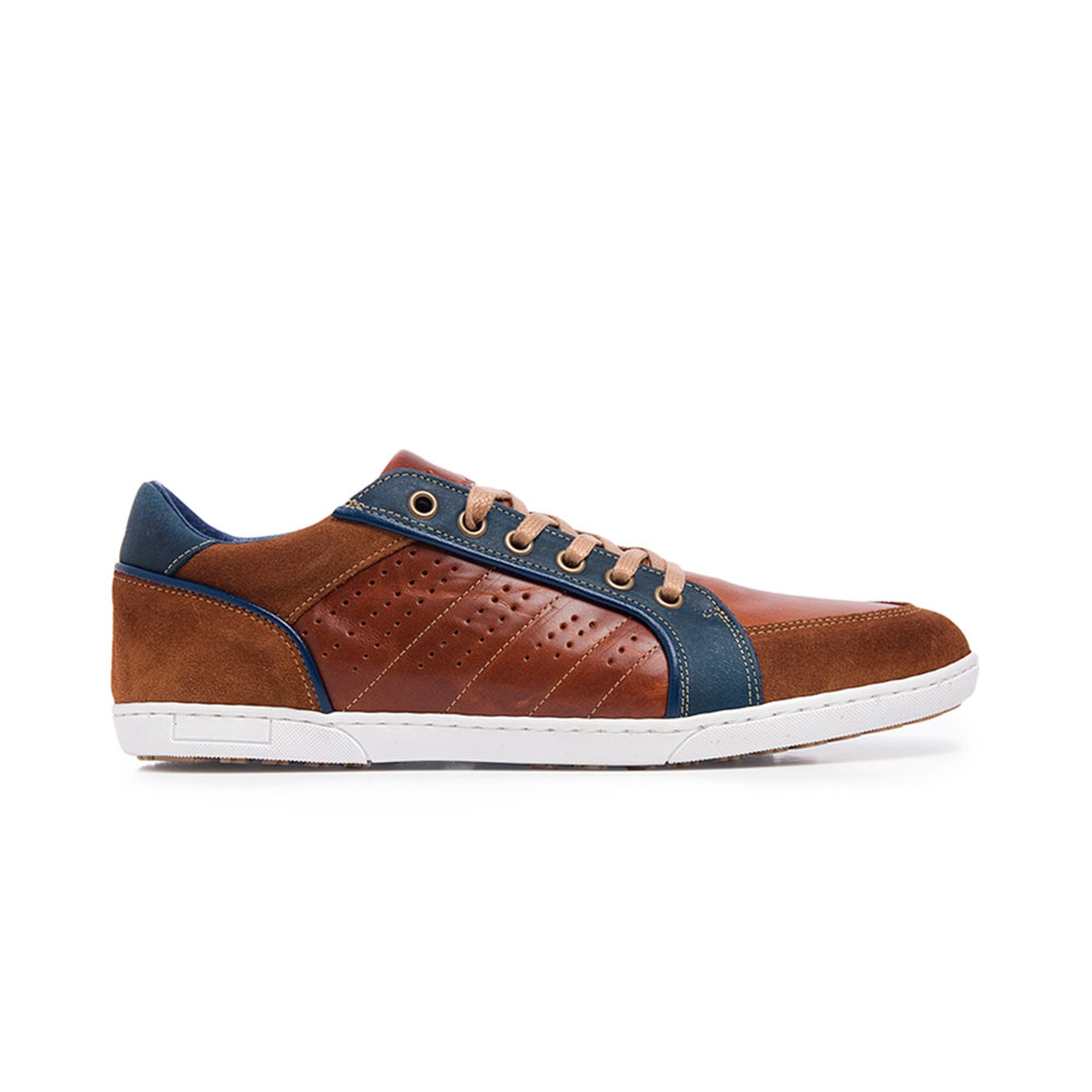 Chestnut Leather Sneakers