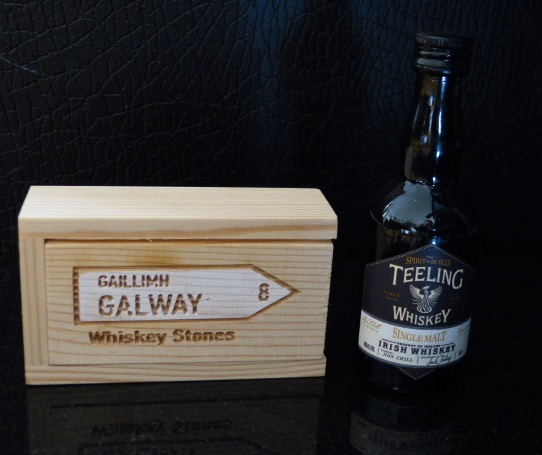 Galway Whiskey Stones and Teelings Whiskey Gift Set