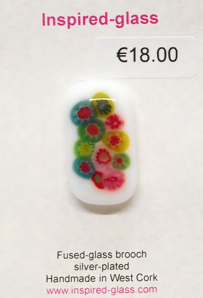 Fused-glass jewellery - brooch - 101
