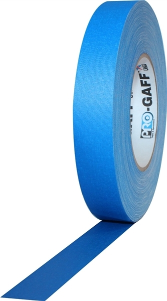 PRO GAFF® - FL Blue Fluorescent Gaffer Tape - 1 inch x 25 yards (24mm x 22.8mm)
