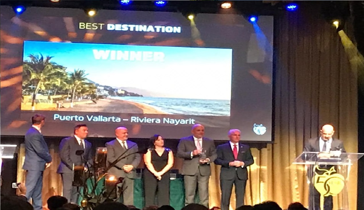 "Gana Puerto Vallarta-Riviera Nayarit premio ""Mejor Destino 2019"" de Apple Vacations"