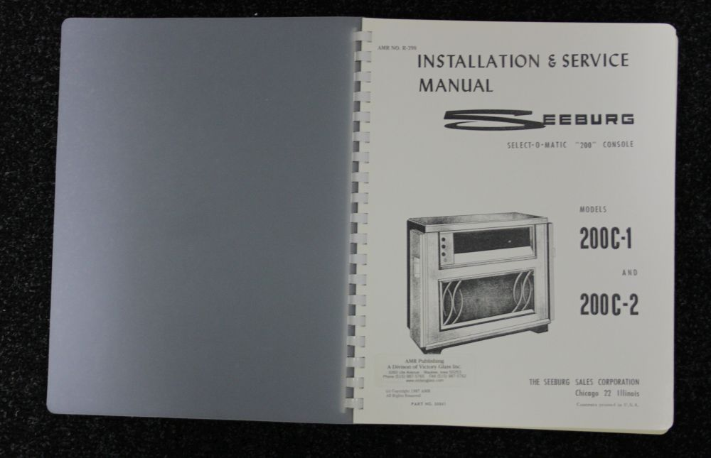 Seeburg - Installation & Service Manual - Models 200C-1, 200C-2
