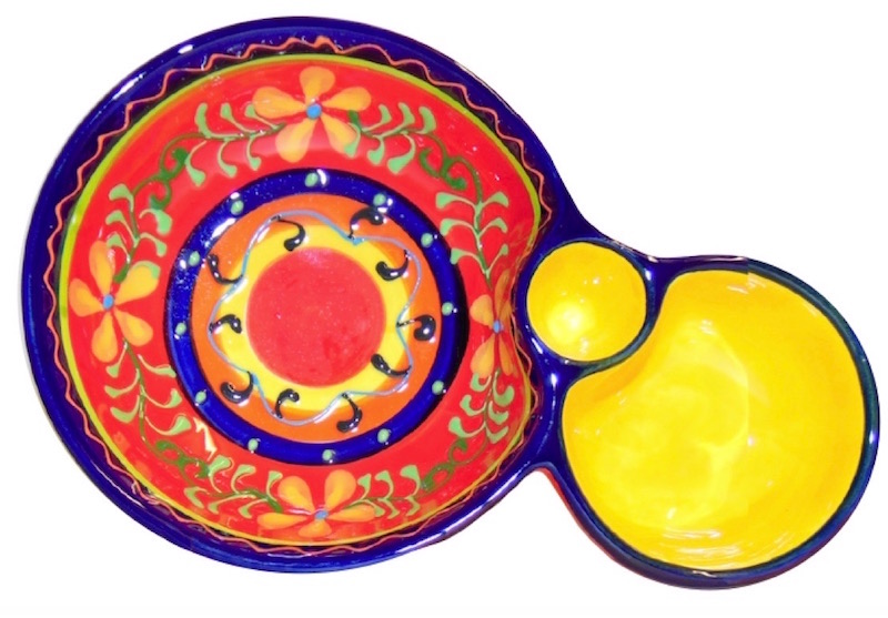 Classic Spanish Orange Flower Olive Dish