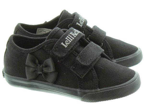 Lelli Kelly girls school trainers with black bow