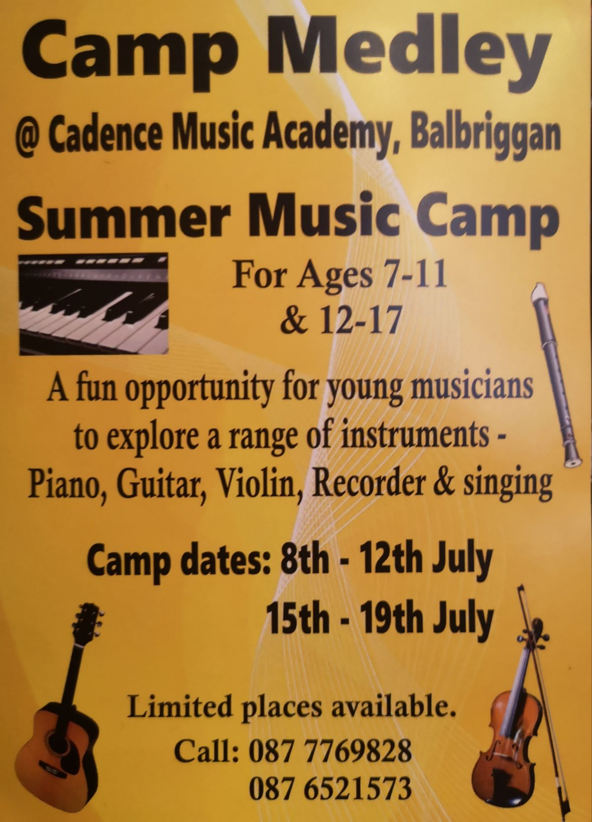 'CAMP MEDLEY' Summer Music Camp