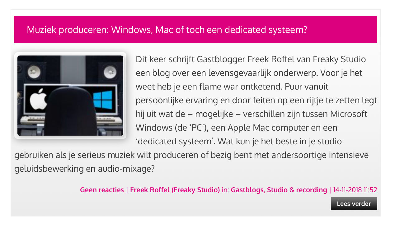 Apple, Windows of dedicated systeem , tweede blog bij Bax