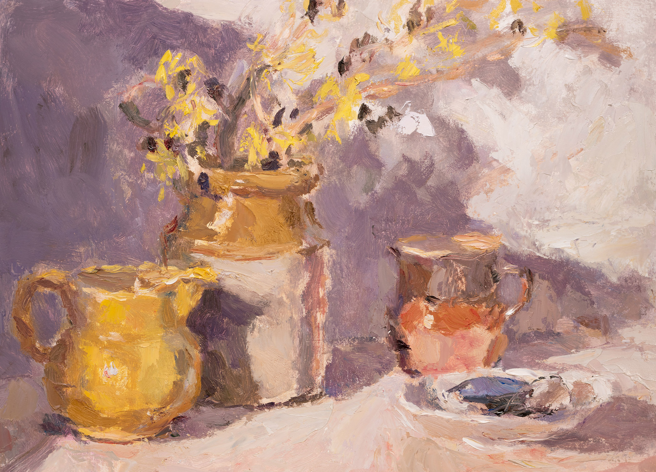 Witch Hazel with a Yellow Jug