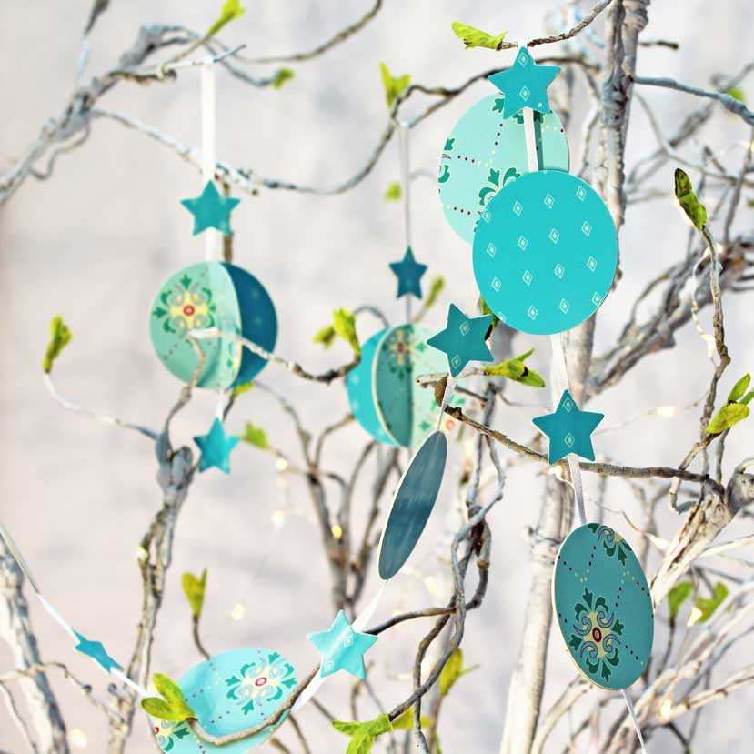 Make your own - Garland KIT - Jade paper