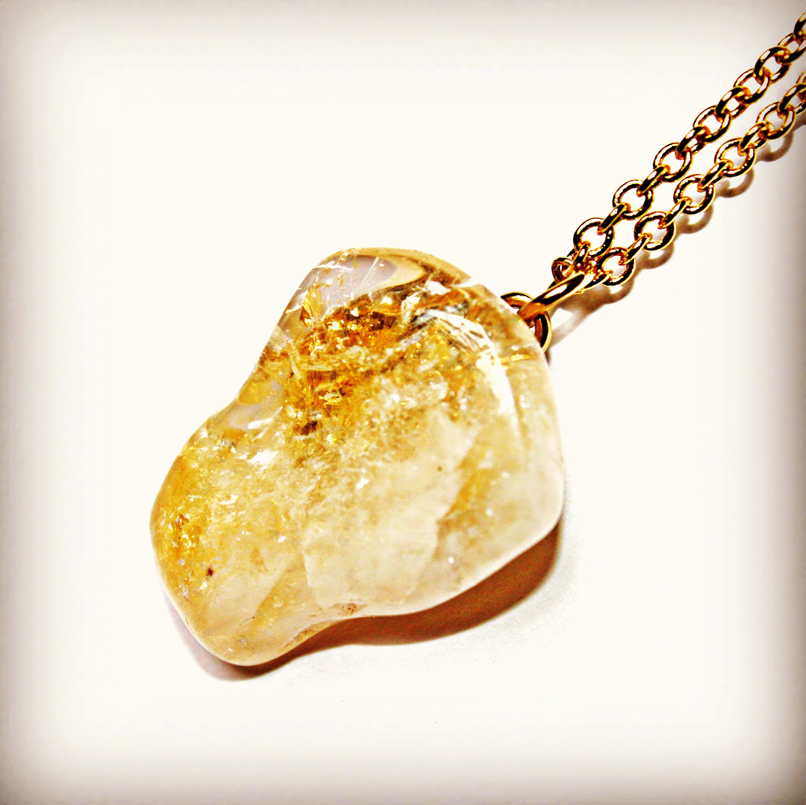 18k Gold pl citrine Necklace