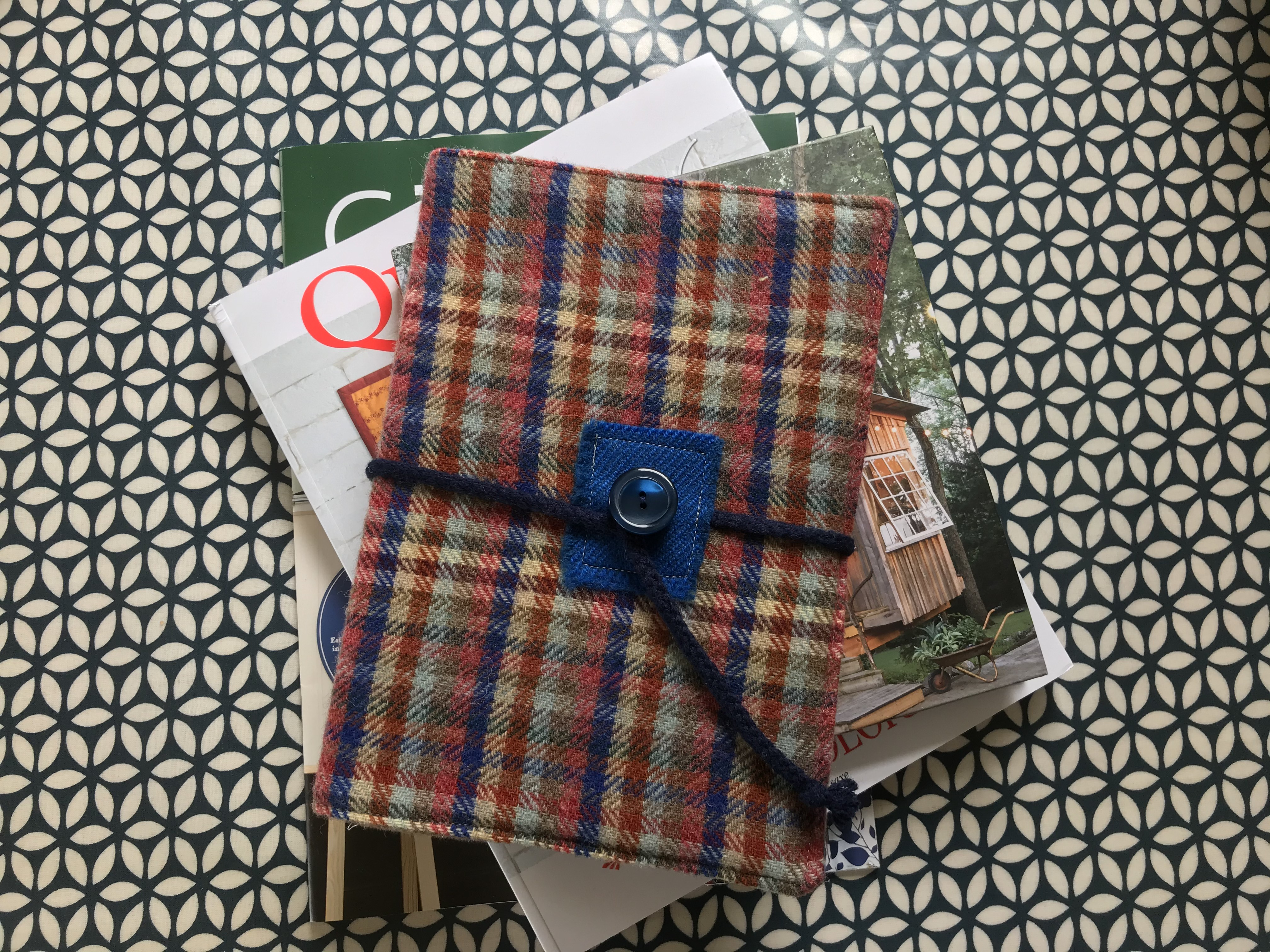 Fabric Affair:Tweed Note Book Cover.