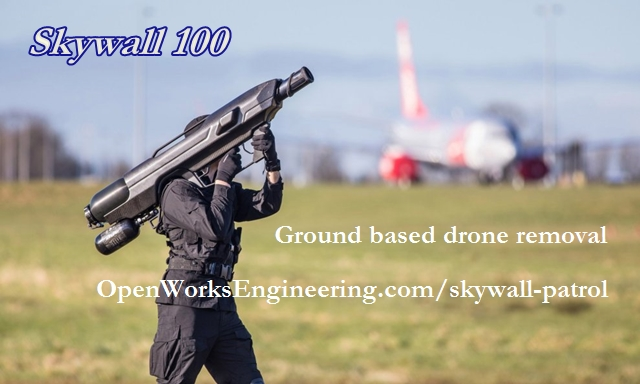 skywall 100 anti-drone shoulder fired