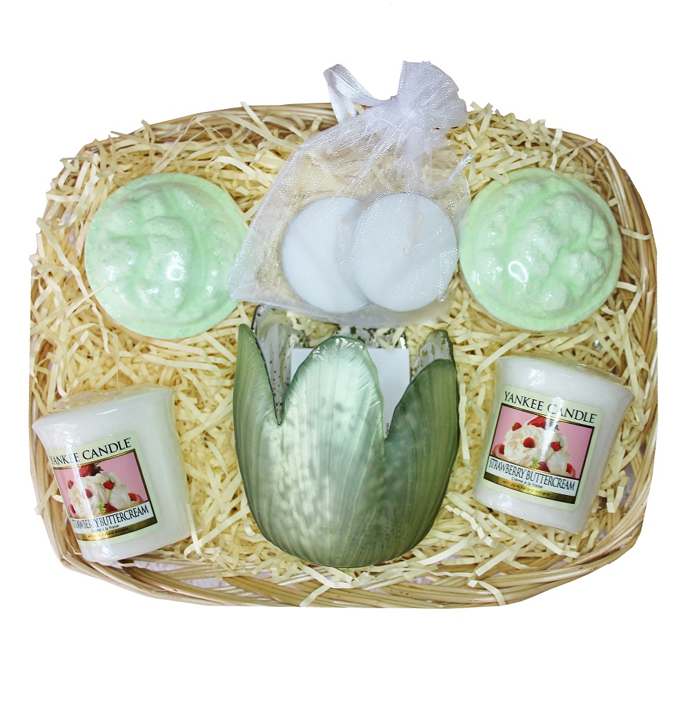 Time to Relax, Gift Basket - Green