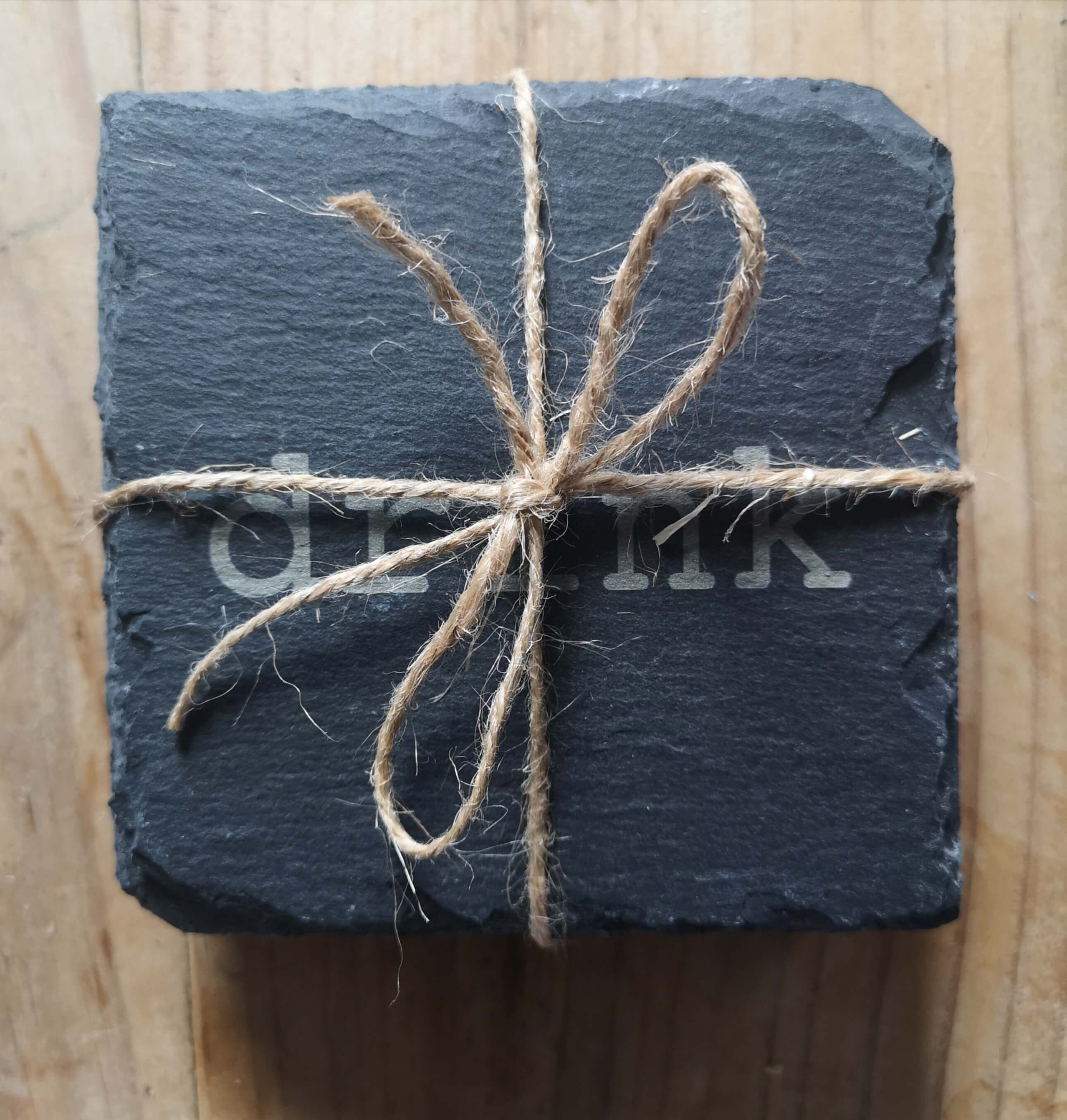 Slate Drink Coasters - With Father Jack's Favourite Words