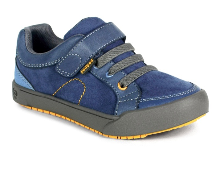 Pediped boys blue suede and leather trainers