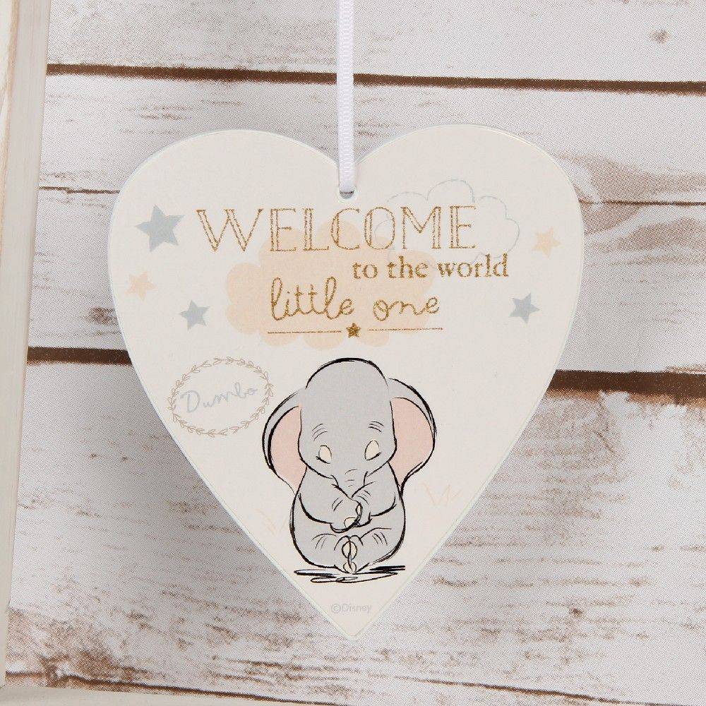 Disney Dumbo 'Welcome to the world' heart plaque