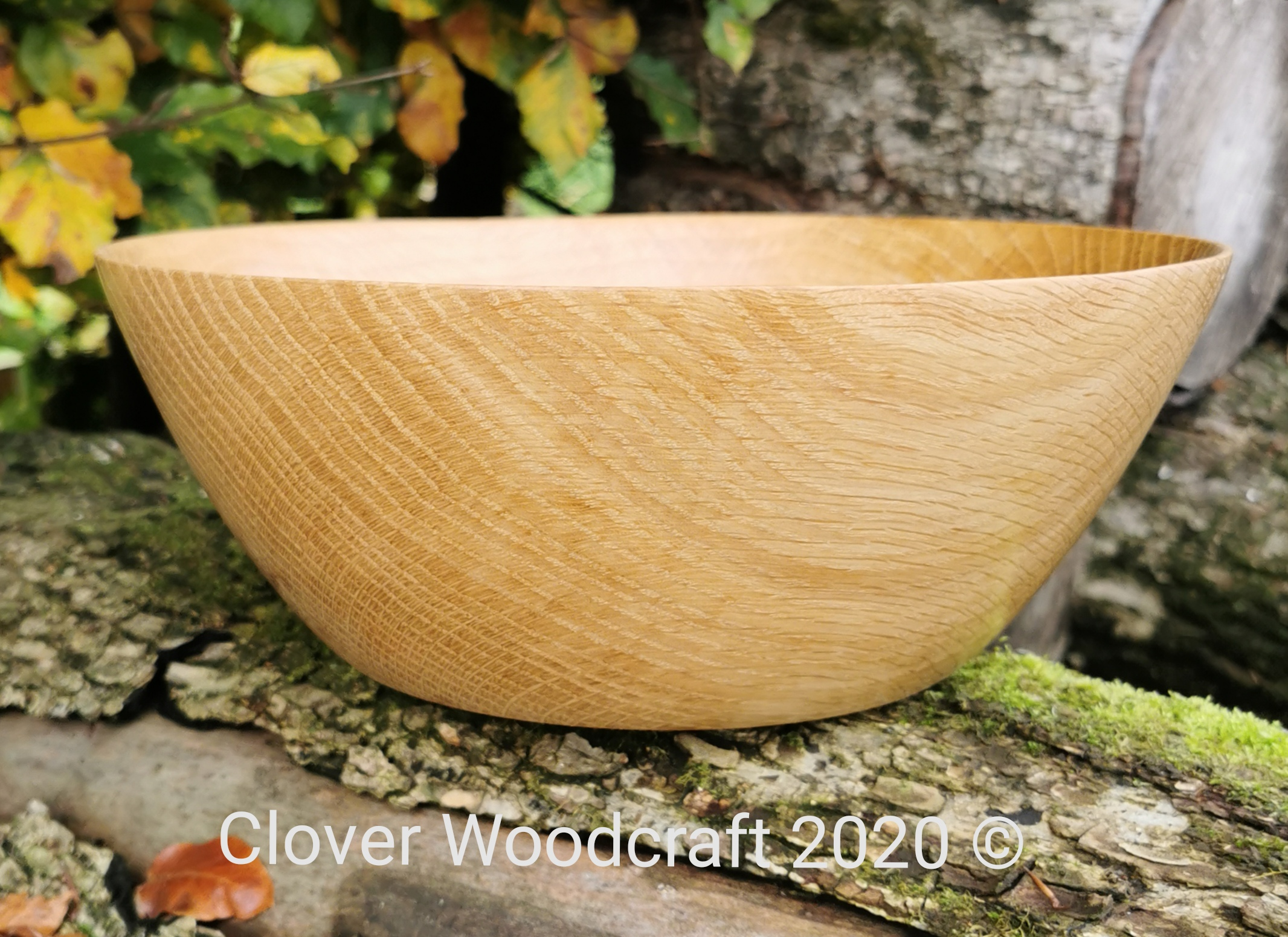 Irish Red Oak Large Wood Turned Salad Bowl