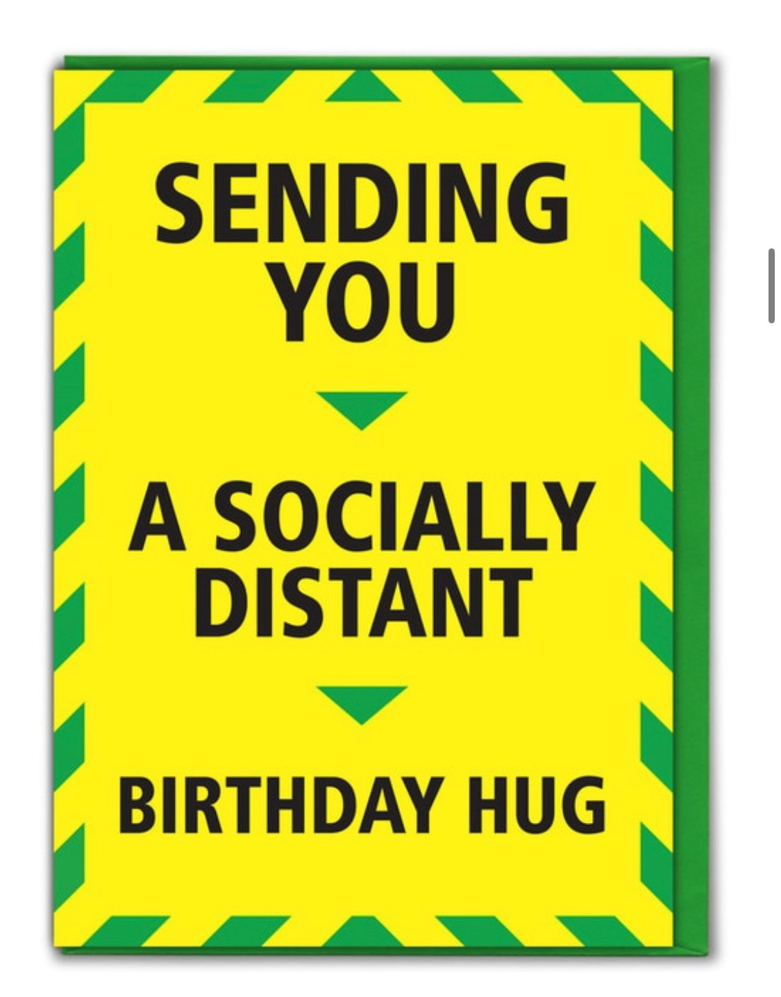 'Socially distant birthday hug' Card