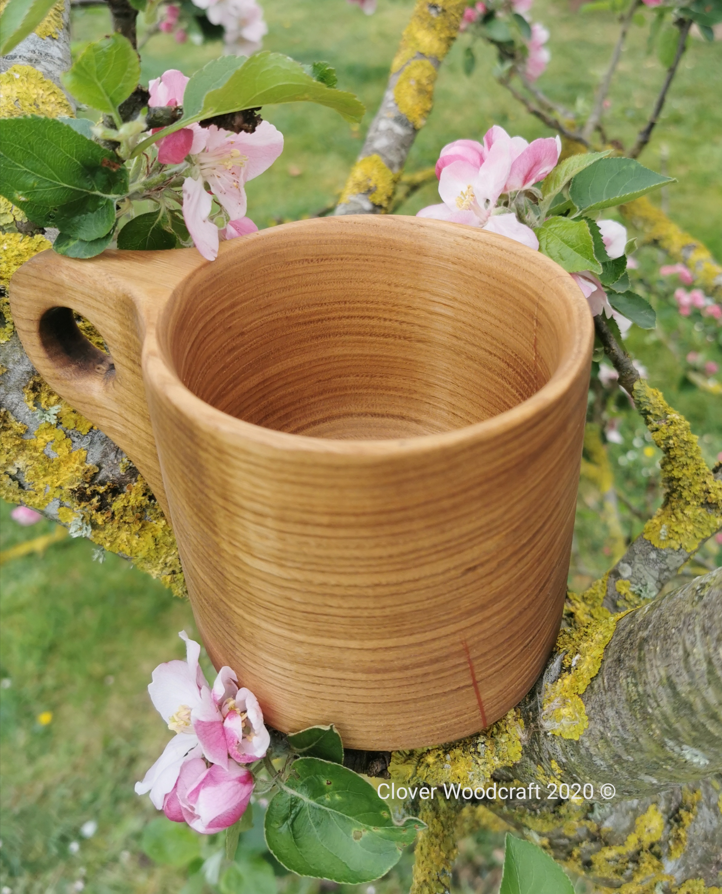 Handmade Spanish Chestnut Wood Turned Mug