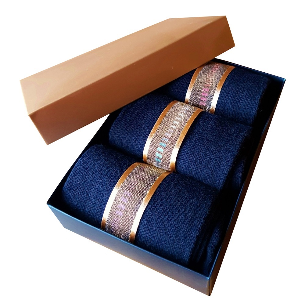 Men's Black Socks, Gift Boxed.