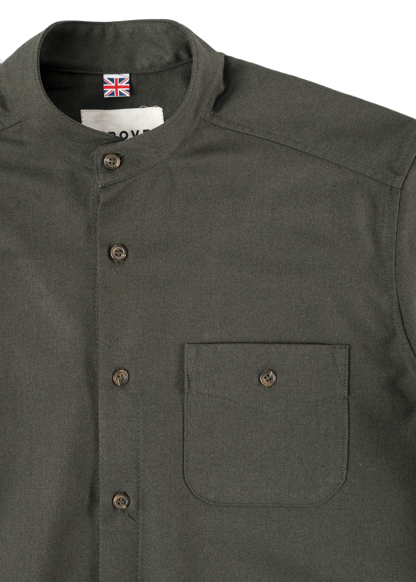 Button Down Overshirt | Goose Green