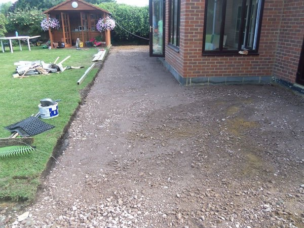 Old patio area Egham