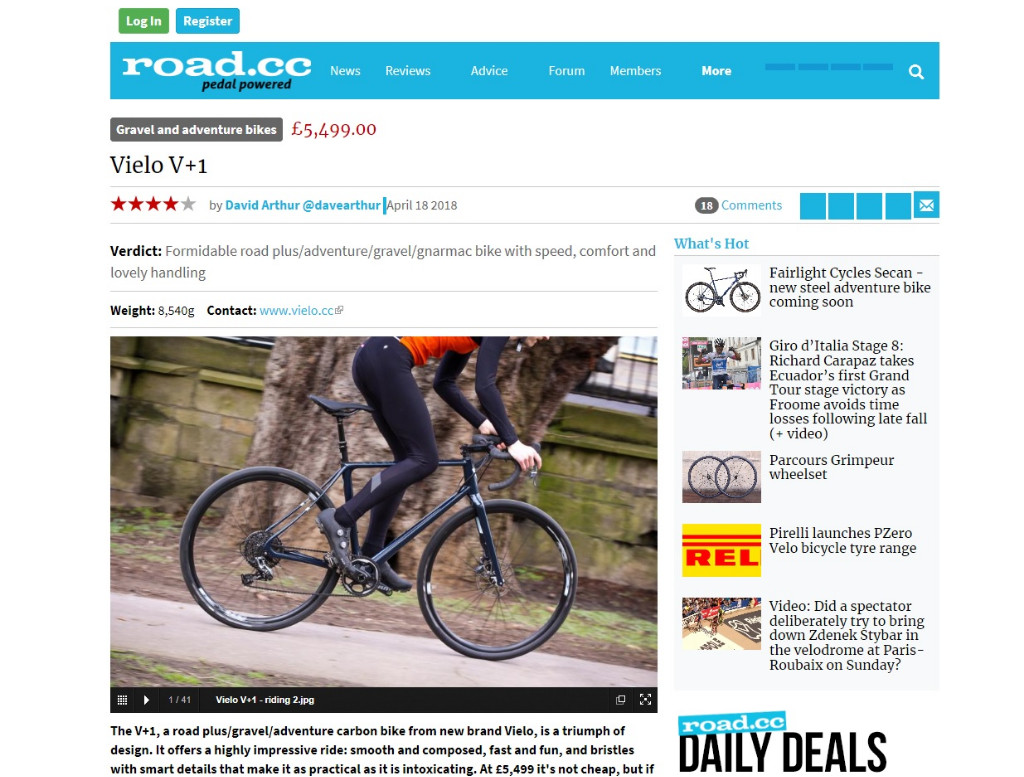 Review: Vielo V+1 - Road.cc