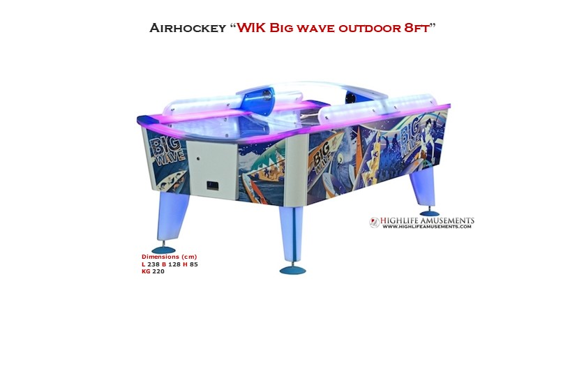 "Rental Airhockey Wik ""Big wave 8ft"""
