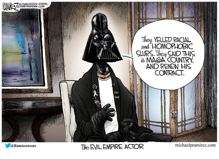 Evil 'Empire' Actor cartoon