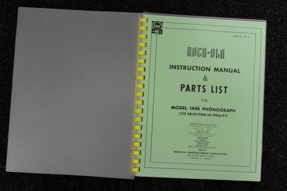 Rock-ola - Instruction Manual and Parts List - Model 1448