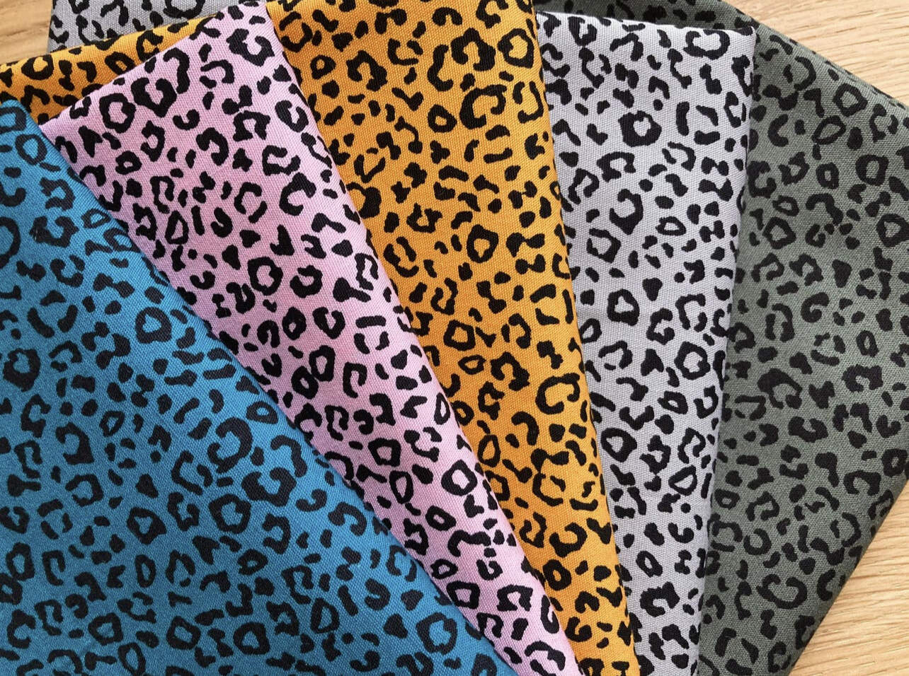 Face covering - small leopard print