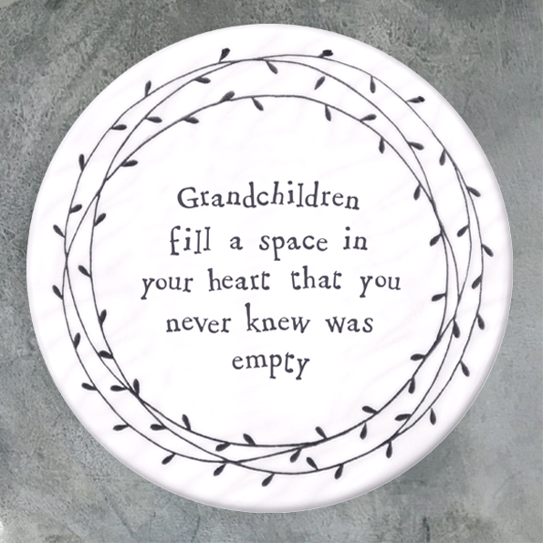 East Of India Coaster - 'Grandchildren Fill A Space....'