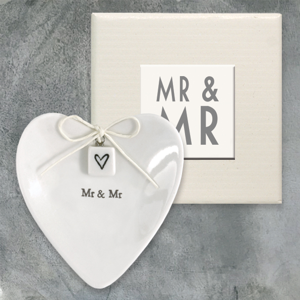 East Of India Mr & Mr Ceramic Ring Dish